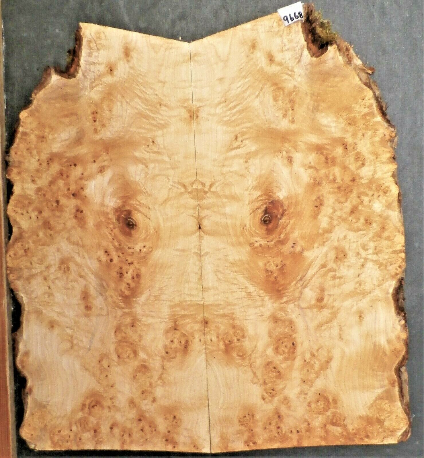 Birdseye Maple Burl Instrument Wood 9668 Luthier Solid Body Guitar Top set