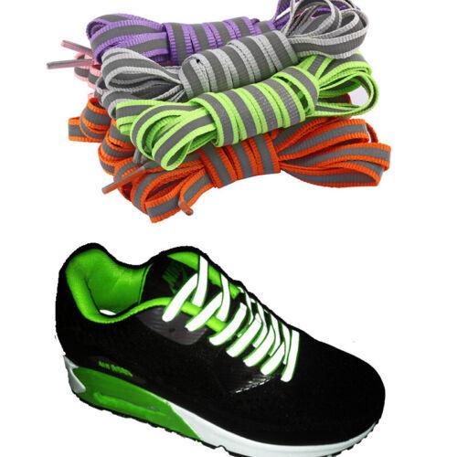 1Pair Luminous Shoelace Flat Athletic Glow In The Dark Shoe Laces Strings