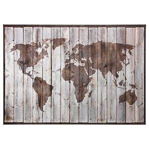 Ikea bjorksta driftwood world map canvas 78 34 x 55 with brass la foto se est cargando ikea bjorksta trozos de madera lona mapa del gumiabroncs Gallery