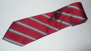 Donald-Trump-Tie-Signature-Red-White-Gray-Stripe-Luxury-Thick-Woven-Jacquard