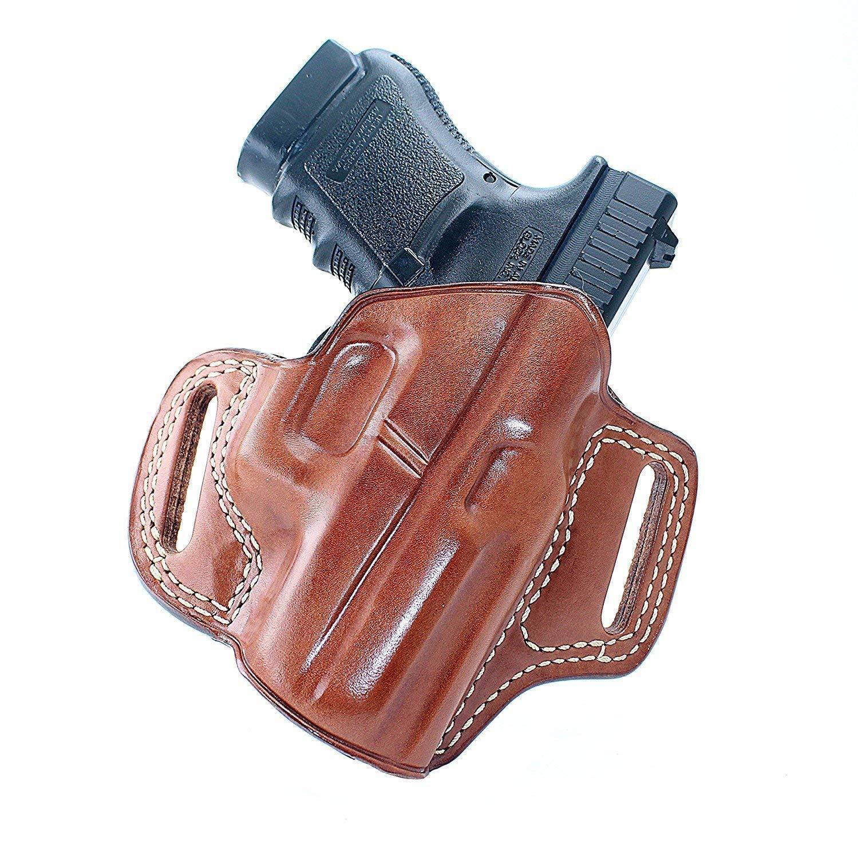 Funda de cuero panqueque parte superior abierta para S&W Shield 45 Con El Pulgar Seguridad 3.3 BBL