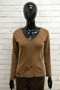 Maglia-Donna-MARLBORO-CLASSICS-Taglia-Size-XS-Maglietta-Blusa-Shirt-Woman-Cotone