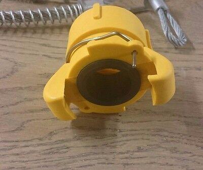 "Clemco Fit Blast Pot Coupling Threaded 1""1/4 Connectors X 2 Bargain!"