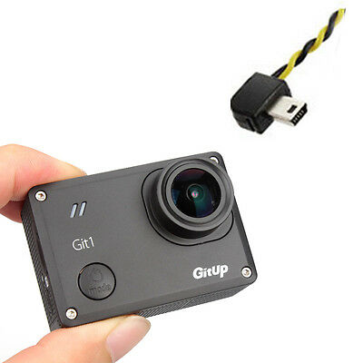GitUp Git1 Novatek 96655 1080P WiFi FPV DVR Camera Cam For DJI Drone+AV Cable