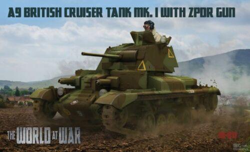 The World at War W-011 A9 British Cruiser Tank Mk.I with ZPDR Gun scale 1//72