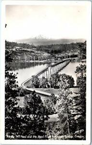 RPPC MT  HOOD and Hood River INTERSTATE BRIDGE, Oregon OR ca