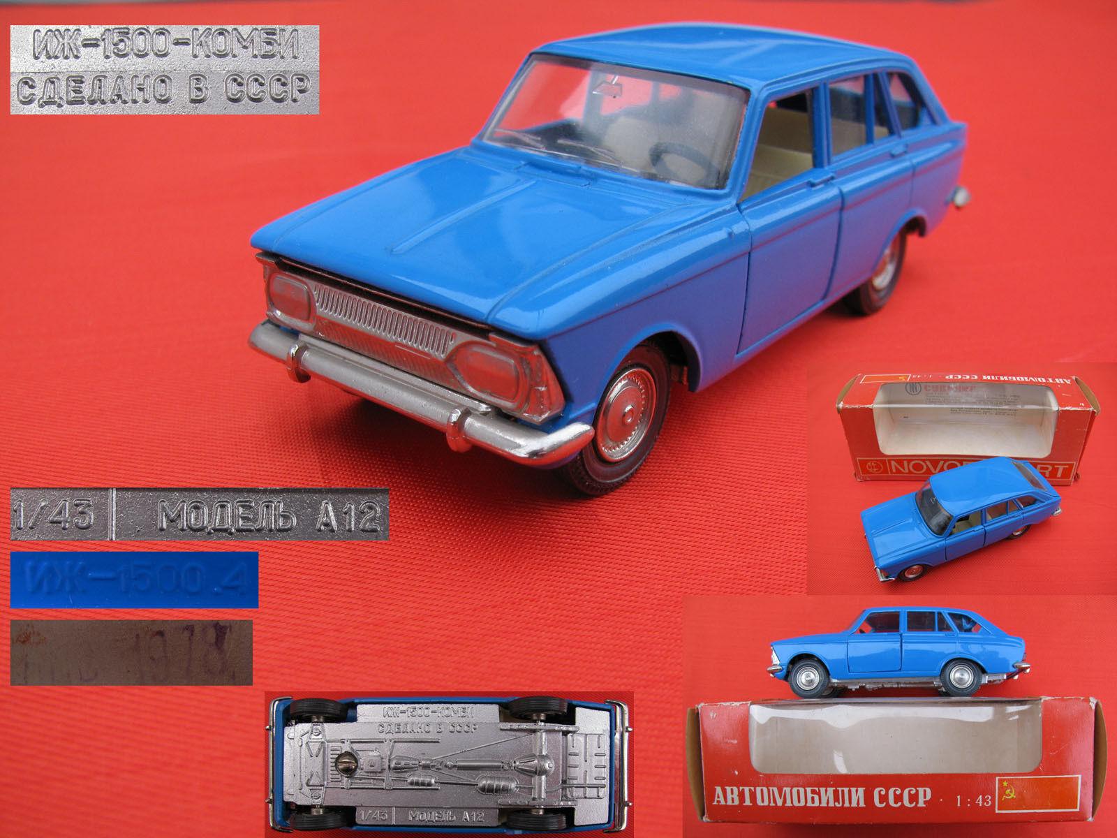 VINTAGE URSS voiture 1978 S MOSKVICH IZH 1500 Combi Modèle 1 43 A12 soviétique russe