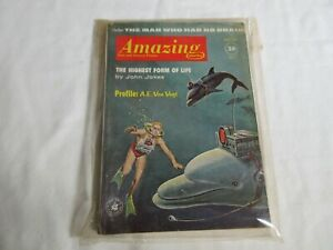 Amazing-Stories-August-1961-Vintage-Science-Fiction-digest-good-condition