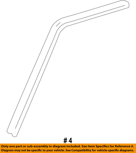 GM OEM Front Door-Drip Weatherstrip Weather Strip Left 15113132