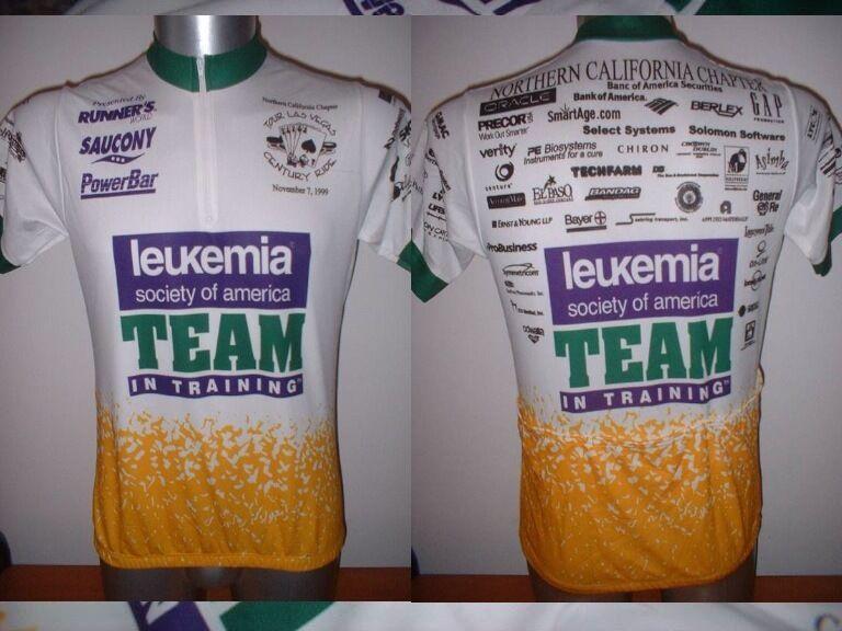 Leukemia Team America Shirt Jersey Adult L Cycling Cycle Mountain Ciclismo Bike