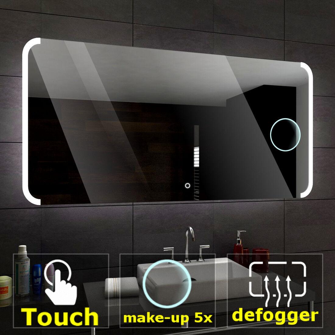 SEATTLE Led Badspiegel Wandspiegel Touch Sensor SchminkSpiegel Heizmatte A05