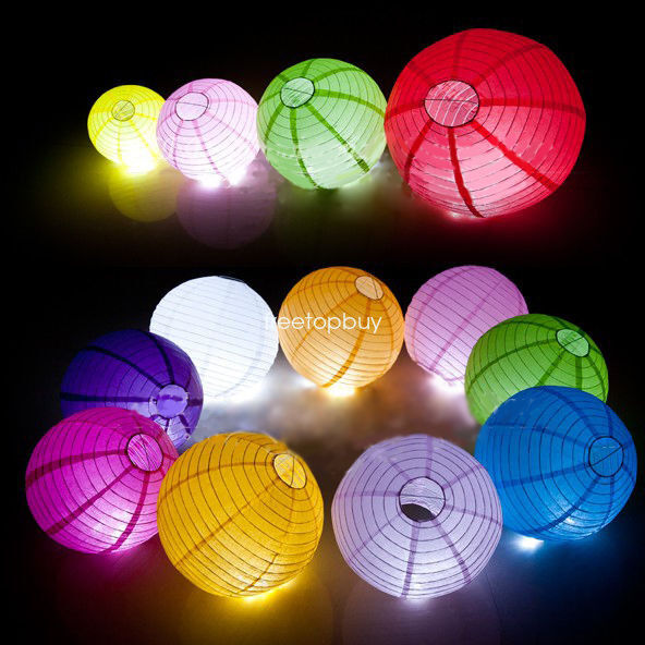 10PCS/LOT Round Hanging Chinese Paper Lanterns Party Decoration with 5 sizes QP0