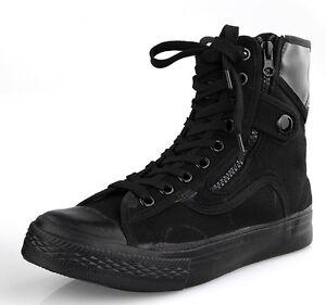 Fulinken-Size-5-11-New-Comfort-Canvas-Combat-Zip-Ankle-Boots-Mens-Casual-Shoes