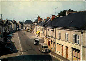 Manthelan-Indre-et-Loire-France-Frankreich-Carte-Postale-CPA-1974-Rue-Nationale
