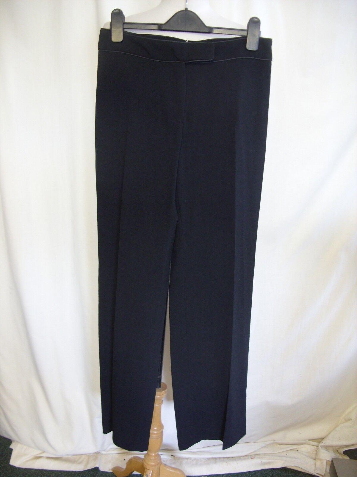 Ladies Trousers Hobbs UK 8 8 8 schwarz light wool waist 30  inside leg 33  smart 7756 7e830e