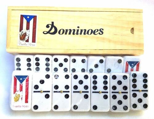 Lot of 2 Professional Puerto Rico Flag Double Six Dominos Dominoes Rican