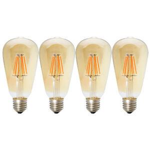 4x E27 6w Dimmbar Led Filament Glühbirne Edison Lampe Vintage Deko
