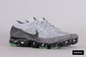 on sale 7f879 07487 Image is loading Nike-Air-Vapormax-Flyknit-Heritage-Neon-Size-7-