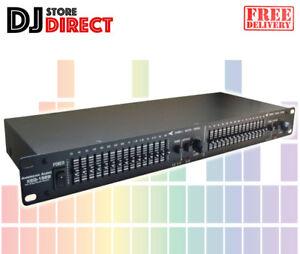 American-Audio-XEQ-152B-Dual-15-Band-Stereo-Graphic-Equaliser-19-034-Rackmount-EQ