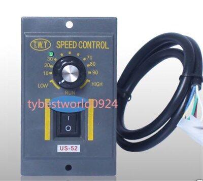 200W 220V AC 6 Pins Plug Gear Motor Speed Controller Switch US-52