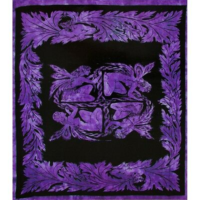 Fairy Square Purple Full Tapestry