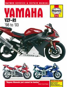 Haynes Workshop Manual For 2000 Yamaha Yzf R1 1000cc 5jj1 Ebay
