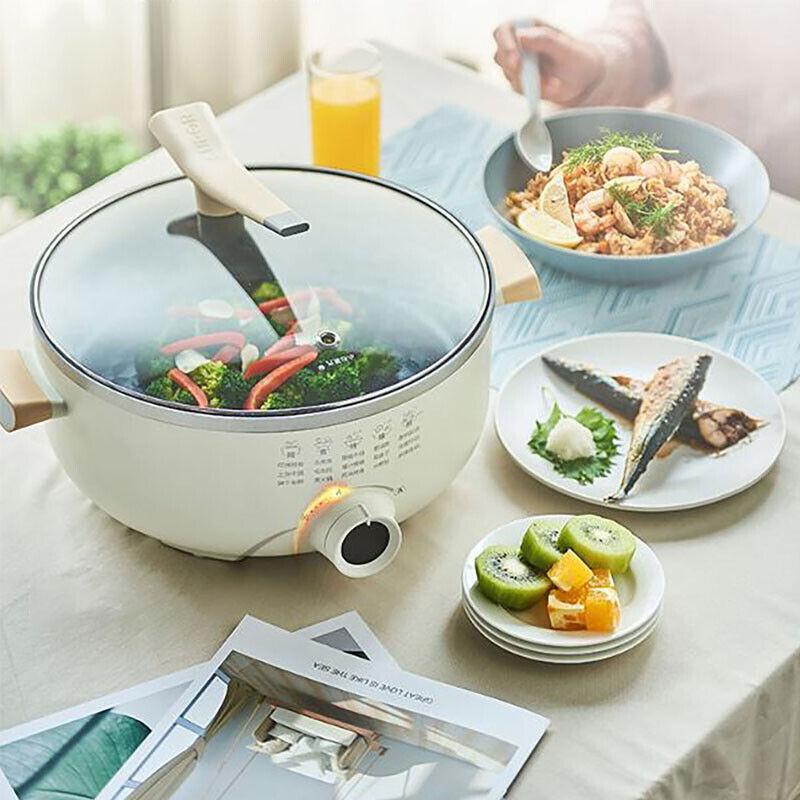 Eléctrico Acero Inoxidable Sartén Sartén Antiadherente Sin Humo utensilios de cocina