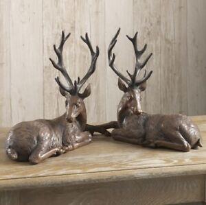 image is loading new raz imports 15 034 resin mahogany brown - Christmas Reindeer 2