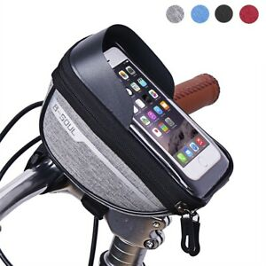 Motorcycle-Bike-Handlebar-Holder-Mount-Mobile-Phone-Bag-GPS-Waterproof-Zipper
