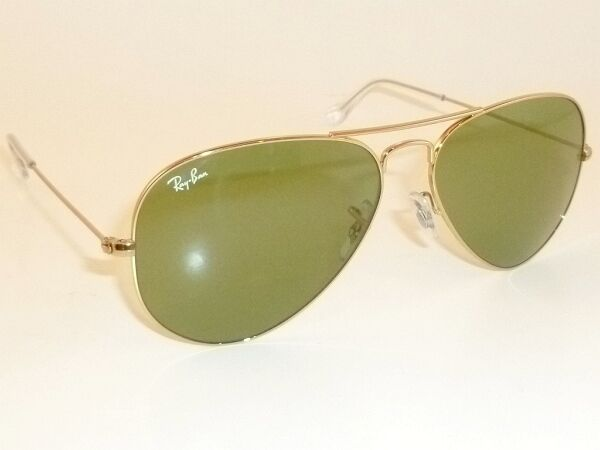 c0d92743b5 Ray Ban Rb3025 Large Aviator 001 14 Arista Gold Sunglasses Green Lens 62mm  for sale online