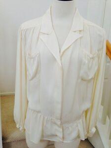 top balenciaga Sz ivoor 36995 AuthNwt blouse zijden OTZuXkwPi