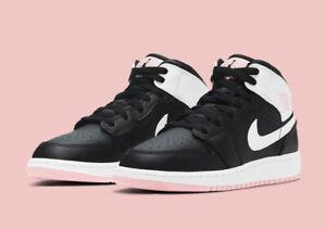 Nike Air Jordan Mid 1 (GS) Artic Pink Black White 555112-061 Youth ...