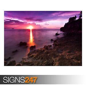 BEACH-SUNSHINE-3256-Beach-Poster-Picture-Poster-Print-Art-A0-A1-A2-A3-A4