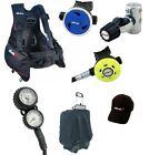 Complete Scuba Diving Set - BCD, Regulator, Octopus, Dive Gauge, Dive Bag