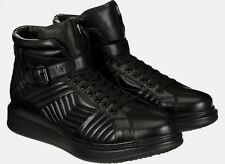Cesare PACIOTTI Trapuntato Nero Stivali Di Pelle High Top Sneaker Boots tg. 9/43