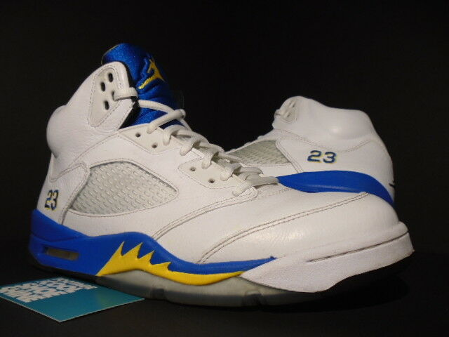 Nike Air Jordan V 5 Retro LANEY BUCS WHITE ROYAL BLUE MAIZE BLACK 136027-189 10