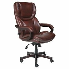 Serta Executive Big Amp Tall Bonded Leather Office Chair Brown