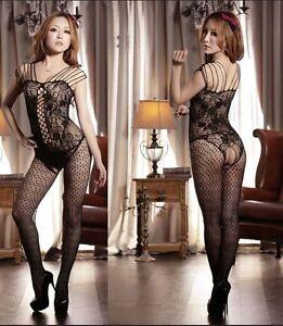 Women-039-s-Lace-Sexy-Lingerie-Fishnet-Full-Body-Stocking-Bodysuit-Nightwear-Dress