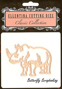 LEOPARD Zoo Wildlife Craft Cutting Die Ellentina Die DCN116 Tessler Crafts New