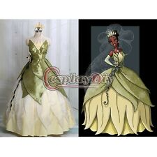 The Princess and the Frog Tiana Princess Dress Costume Adult Women Halloween