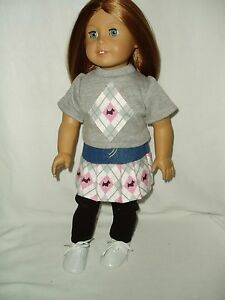 4pc-Scottie-Dog-Outfit-Doll-Clothes-Fit-American-Girl-Skirt-Shirt-Leggings-Shoes