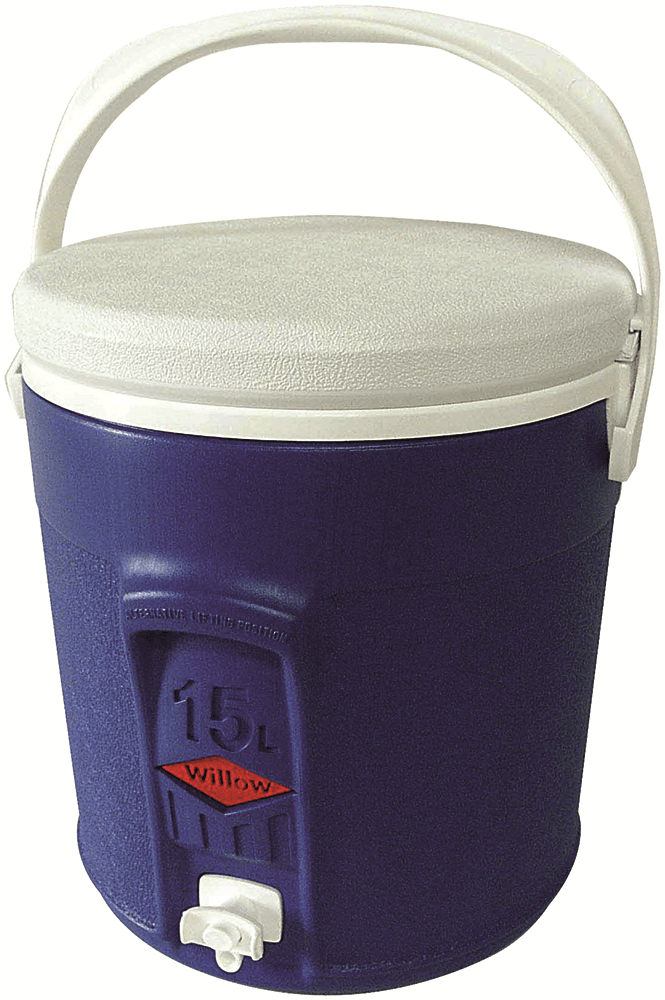 Willow Ware ROUND PLASTIC COOLER WITH TAP 15L Food Safe Blau Australian Brand