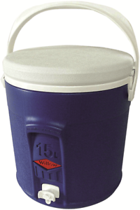 Willow Ware ROUND PLASTIC COOLER WITH TAP 15L Food Safe blueE Australian Brand