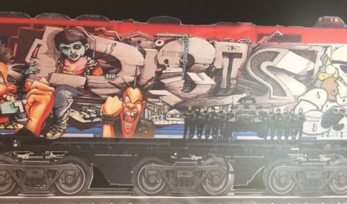 BOMBATOMIK Riots graffiti themed Locomotive Train decal 1 out of a 5 piece set.