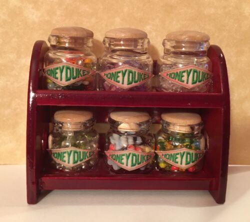 Candy Shop Jars Rack Dollhouse Miniature Harry Potter Honeydukes Halloween