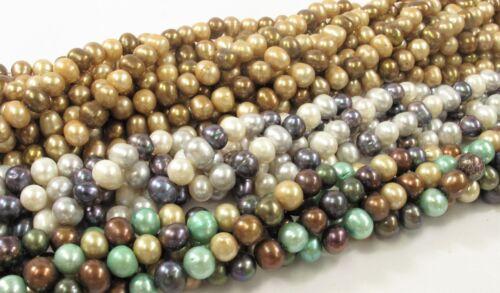 7-8mm Multi Color Potato Freshwater Pearl Beads #549 Mixed Color Potato Pearls