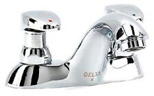 Delta 86T1153 Commercial Centerset Metering Bathroom Faucet (Slow-Close), Chrome