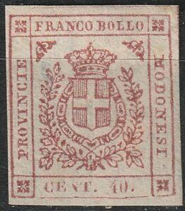 1859-Modena-Gov-Draft-40-Cents-Pink-Carmine-MLH-Italy