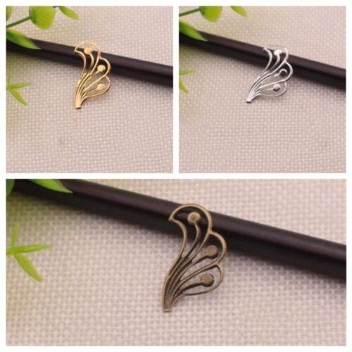 Filigree Wraps Connectors Embellishments 100pcs Antique Metal DIY Making Crafts
