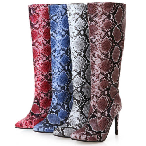 Details about  /Karinluna New Arrivals 2020 Large Size 43 High Heels Mid Calf Boots Woman Shoes